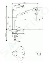 Ideal Standard Alpha - Keukenkraan, chroom BC813AA
