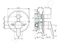 Ideal Standard Alpha - Inbouw badkraan met inbouwdeel, chroom A7185AA
