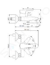 Ideal Standard Alpha - Opbouw badkraan met keramische omstelkraan, chroom BC489AA