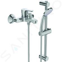 Ideal Standard Alpha - Mitigeur de baignoire avec inverseur en céramique et accessoires, montage mural, chrome BC656AA