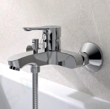 Ideal Standard Alpha - Mitigeur de baignoire, montage mural, chrome BC654AA
