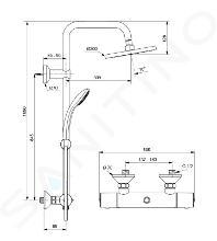 Ideal Standard Idealrain - Set de douche 200 avec thermostat, 3 jets, chrome A6648AA
