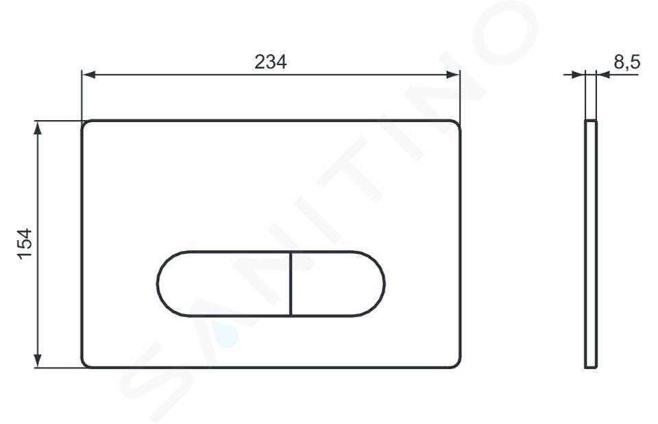 Ideal Standard Oleas - Betätigungsplatte Oleas M1, weiß R0115AC
