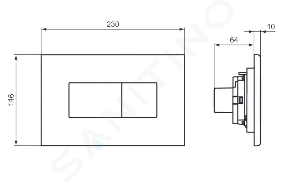 Ideal Standard Solea - Solea P2 bedieningsplaat, wit R0110AC