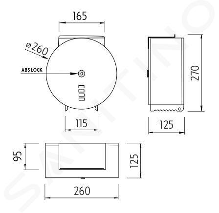 Nimco Autres - Porte-rouleaux de rechange avec étagère, inox brossé HPM 27055-T-10