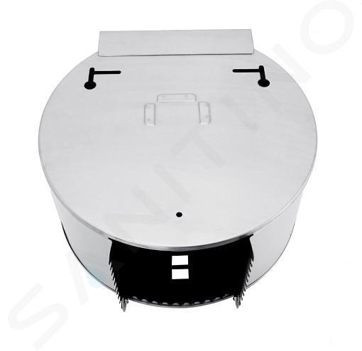 Nimco Sonstige - Toilettenpapierhalter für Großrollen, mit Ablage, Edelstahl gebürstet HPM 27055-T-10