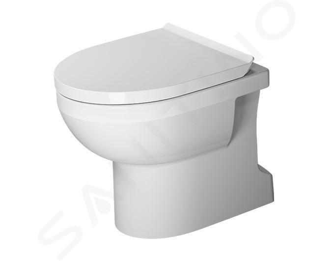 Duravit DuraStyle Basic - Staand toilet, afvoer achter onder, Rimless, met WonderGliss, alpine wit 21840100001