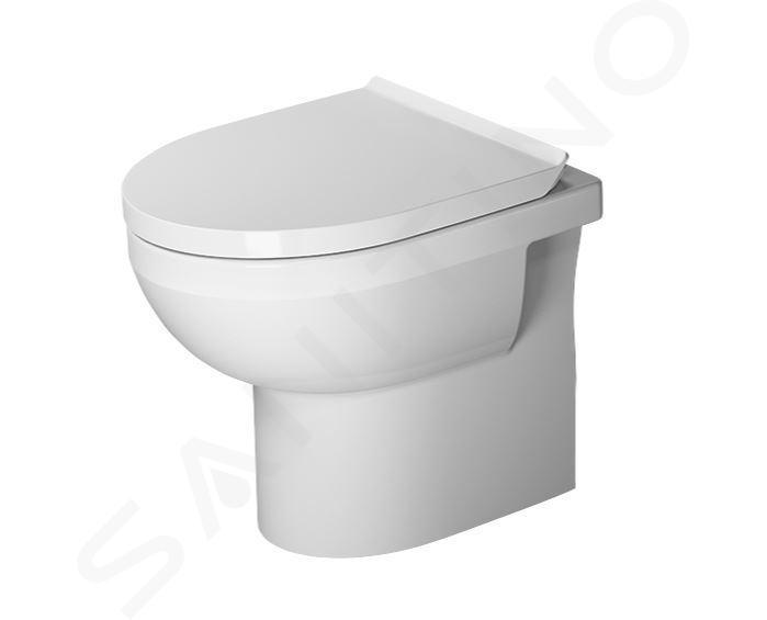 Duravit DuraStyle Basic - Staand toilet, afval aan de achterkant, Rimless, met HygieneGlaze, alpine wit 2184092000