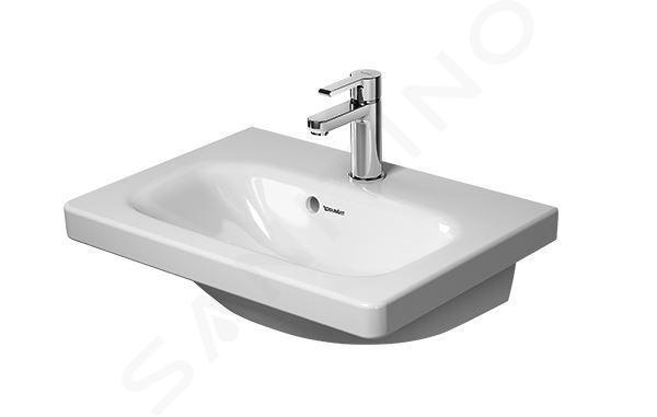 Duravit DuraStyle - Waschbecken Compact, 550x400 mm, mit 1 Hahnloch, Alpinweiß 2337550000
