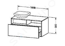 Duravit DuraStyle - Wastafelonderkast 500x1000x550 mm, links, glanzend wit DS6784L2222