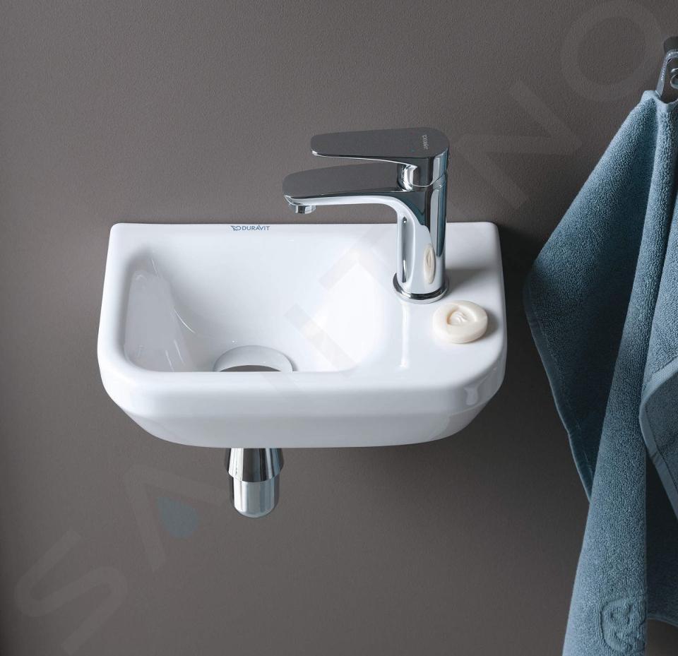 Duravit DuraStyle - Handwaschbecken 360x220 mm, mit 1 Hahnloch rechts, Alpinweiß 0713360000