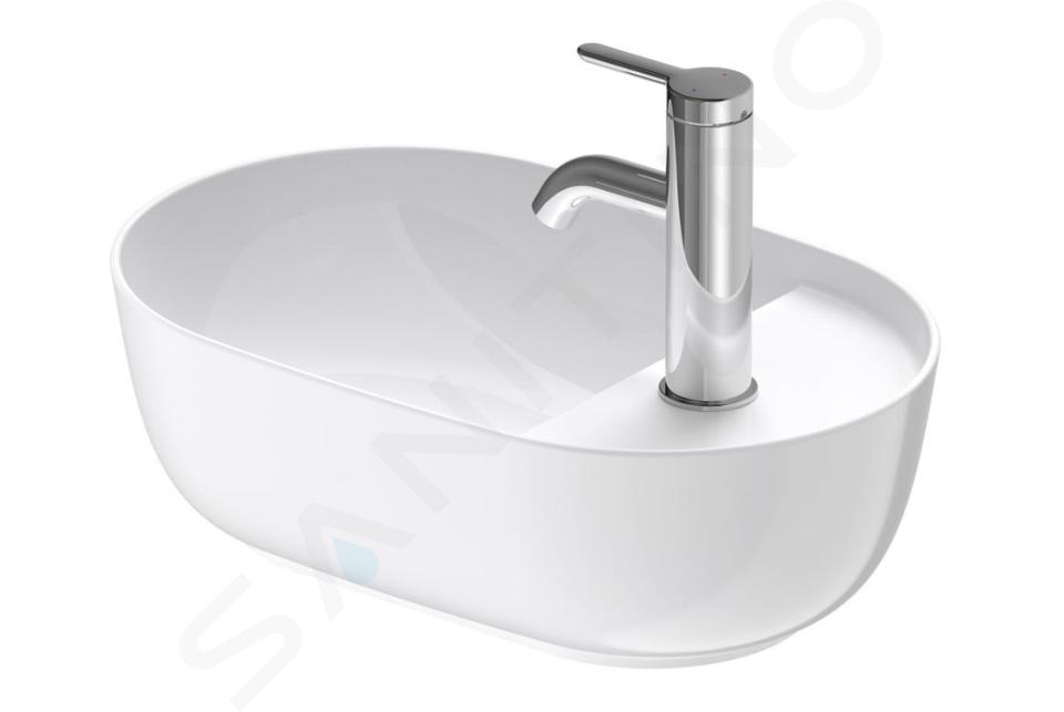Duravit Luv - Lave-mains 420x270 mm, avec un trou variable, DuraCeram, blanc alpin 0381420000