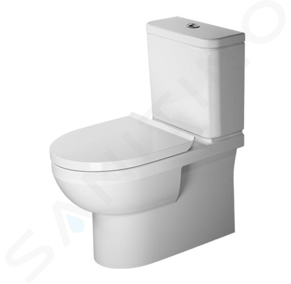 Duravit DuraStyle Basic - WC à poser, évacuation Vario, Rimless, avec HygieneGlaze, blanc alpin 2182092000