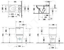 Duravit DuraStyle Basic - Staande toiletpot, afval aan de achterkant, Rimless, alpine wit 2183090000