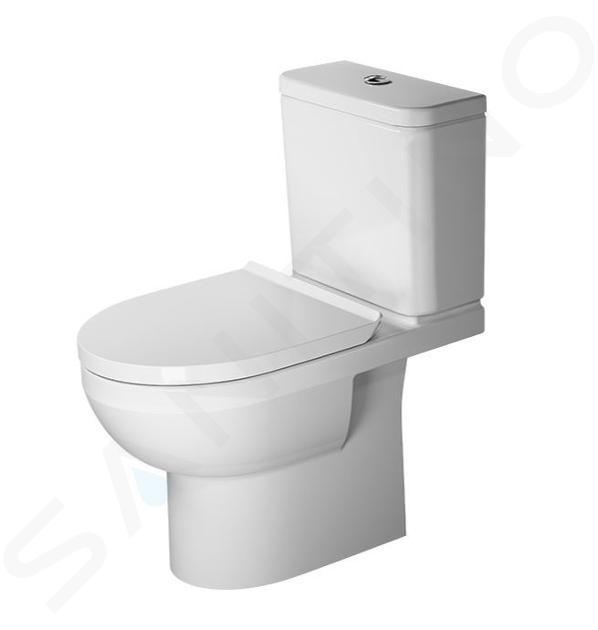 Duravit DuraStyle Basic - Stand-WC-Kombination, Abgang waagerecht, Rimless, mit HygieneGlaze, Alpinweiß 2183092000