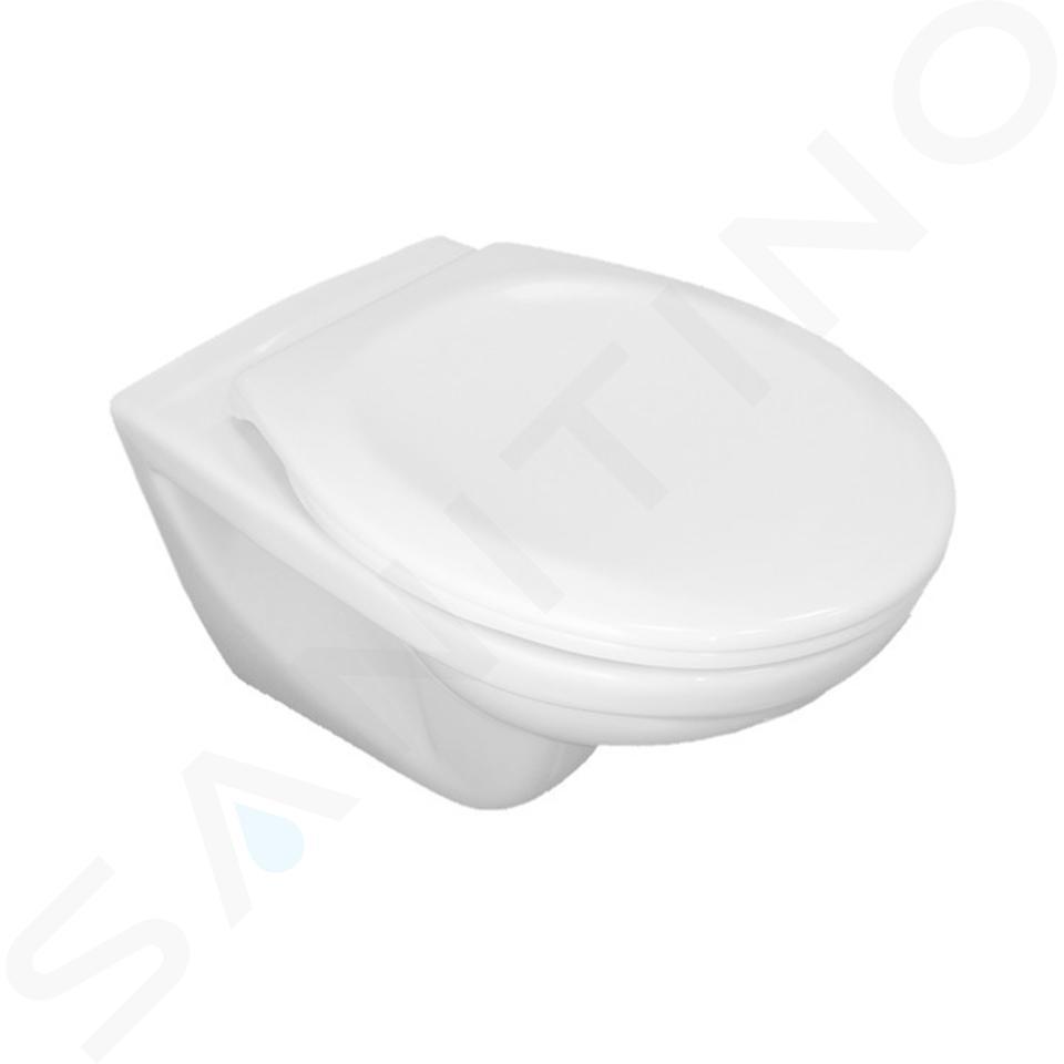 Jika Dino - Závěsné WC se sedátkem SoftClose, Rimless, Dual Flush, bílá H8603770000001