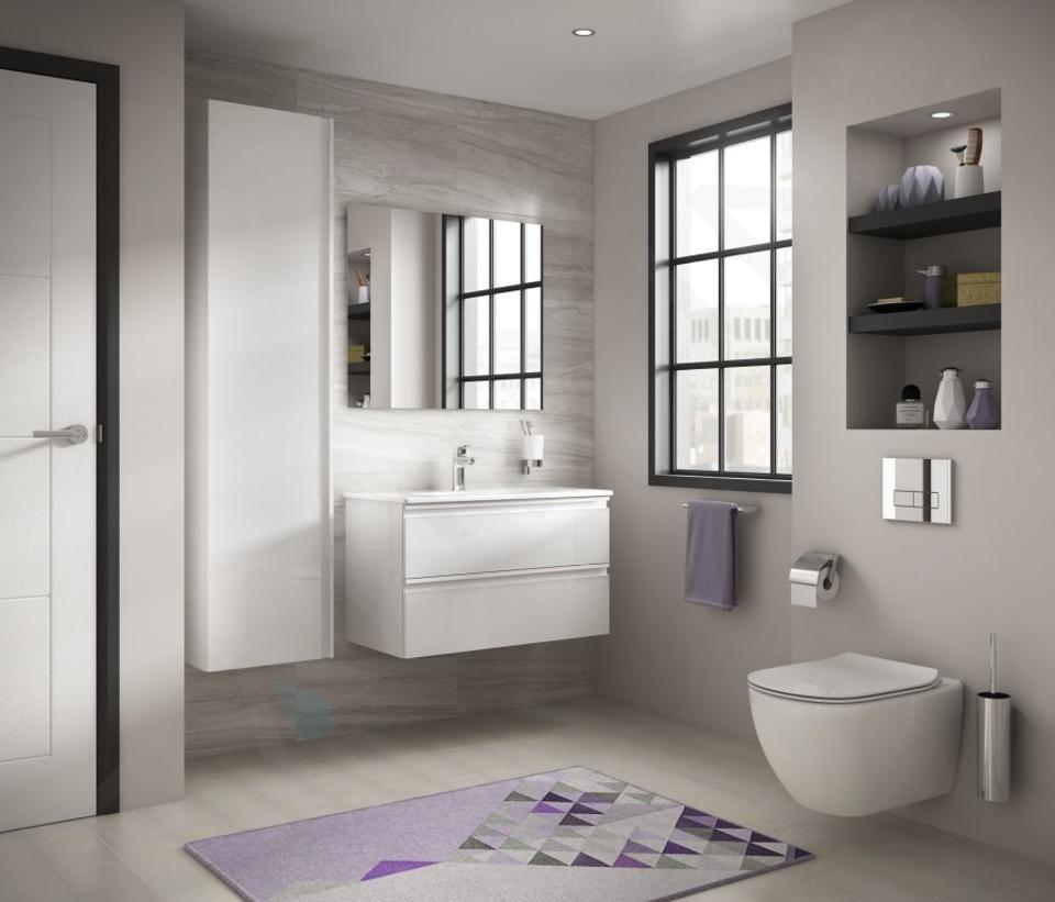 Ideal Standard ProSys - Toiletset- inbouwreservoir, closet, WC-zitting Tesi, Oleas M2 bedieningsplaat, Aquablade, SoftClose, chroom ProSys120M SP3