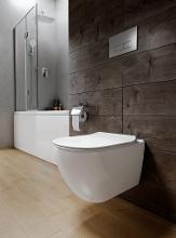 Ideal Standard ProSys - Ensemble pour WC suspendu, cuvette et abattant Tesi, Plaque de déclenchement Oleas M2, Rimless, SoftClose, chrome mat ProSys120M SP8