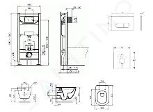 Ideal Standard ProSys - Toiletset- inbouwreservoir, closet, WC-zitting Tesi, Oleas M1 bedieningsplaat, Rimless, SoftClose, chroom ProSys120M SP12