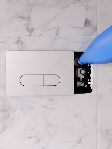 Ideal Standard ProSys - Ensemble pour WC suspendu, cuvette et abattant Tesi, Plaque de déclenchement Oleas M1, blanc ProSys120M SP16