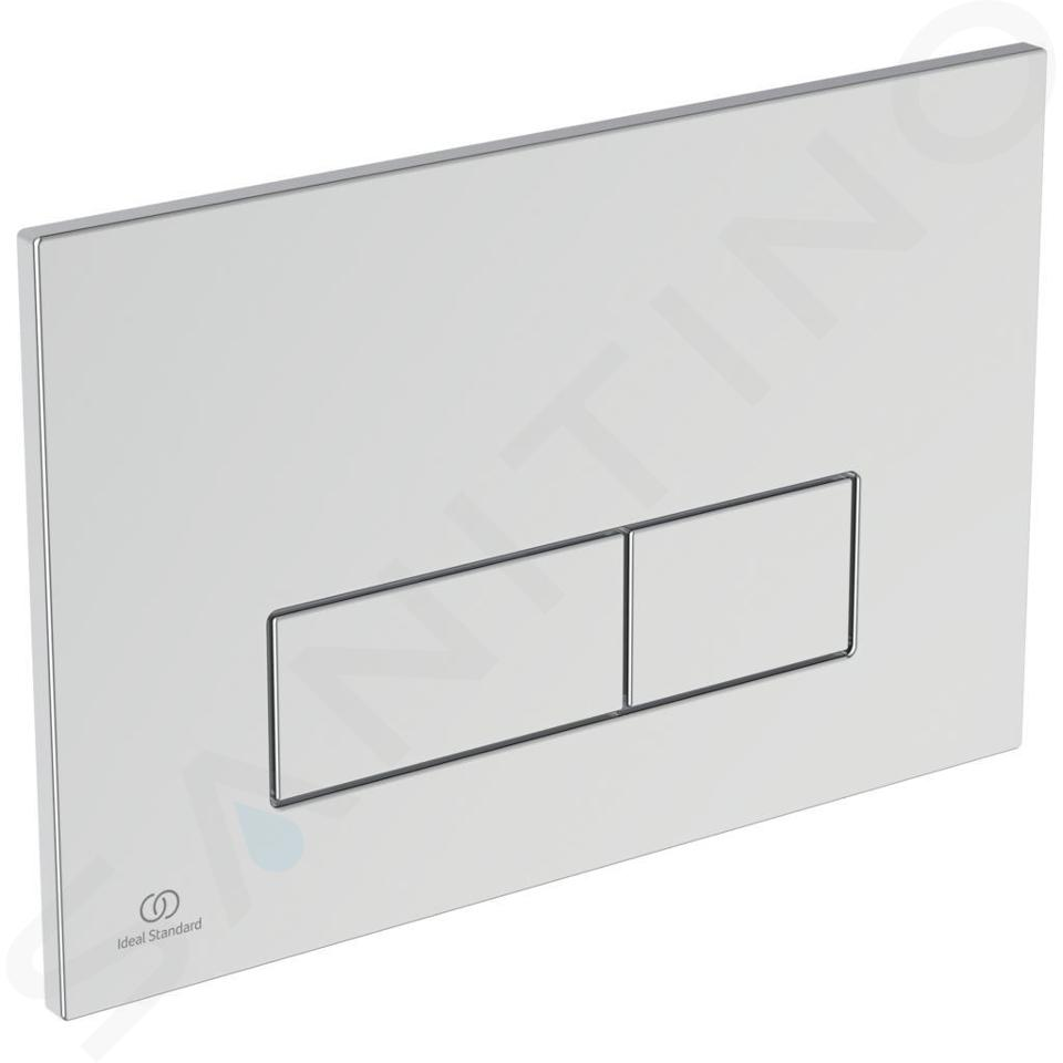 Ideal Standard ProSys - Ensemble pour WC suspendu, cuvette et abattant Connect Air, Plaque de déclenchement Oleas M2, Aquablade, SoftClose, chrome ProSys120M SP21