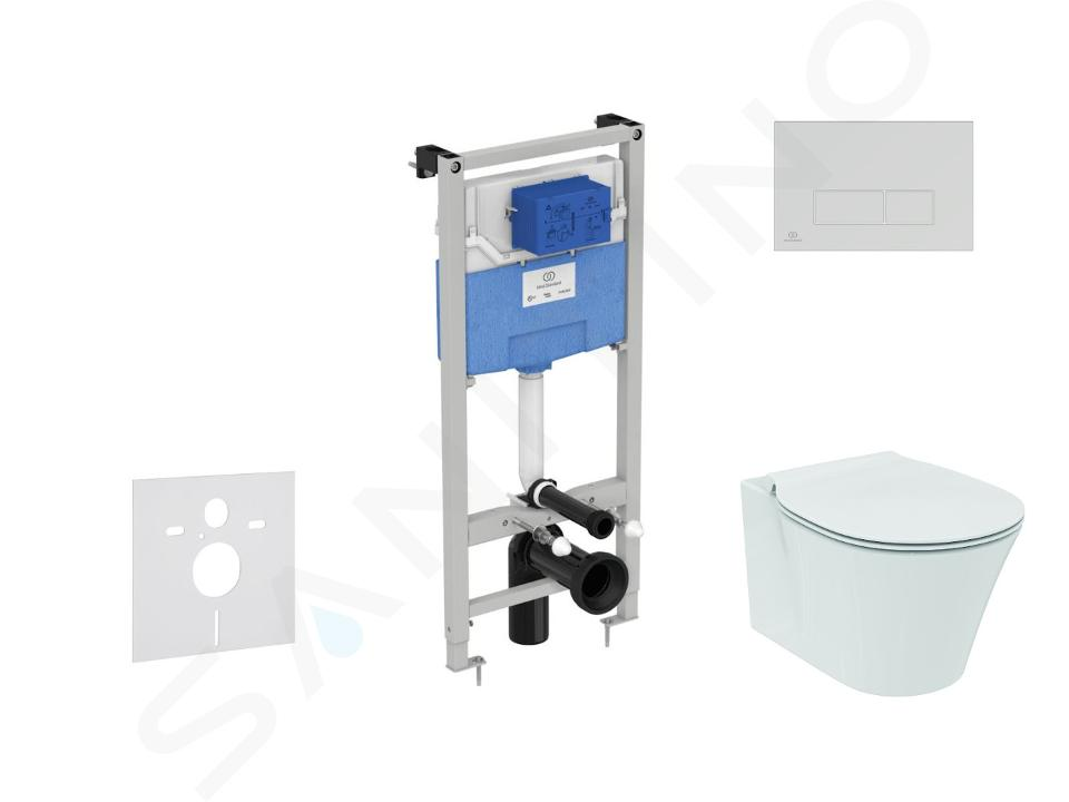 Ideal Standard ProSys - Set - Vorwandelement, Klosett und WC-Sitz Connect Air, Betätigungsplatte Oleas M2, Aquablade, SoftClose, chrom ProSys120M SP21