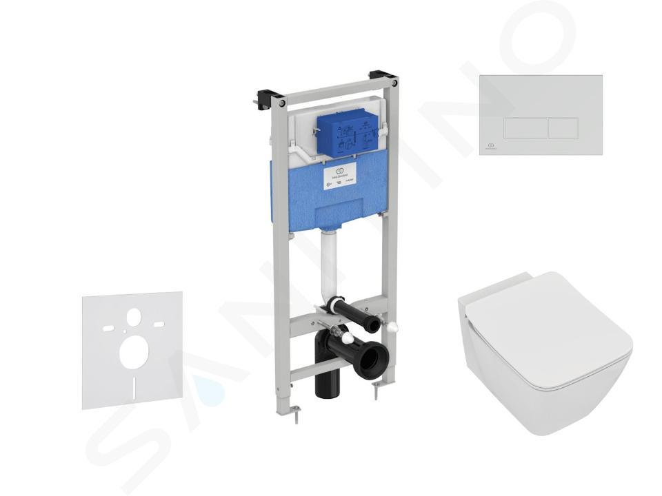 Ideal Standard ProSys - Set - Vorwandelement, Klosett und WC-Sitz Strada II, Betätigungsplatte Oleas M2, Aquablade, SoftClose, chrom ProSys120M SP27