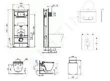Ideal Standard ProSys - Set - Vorwandelement, Klosett und WC-Sitz Strada II, Betätigungsplatte Oleas M1, Aquablade, SoftClose, weiß ProSys120M SP28
