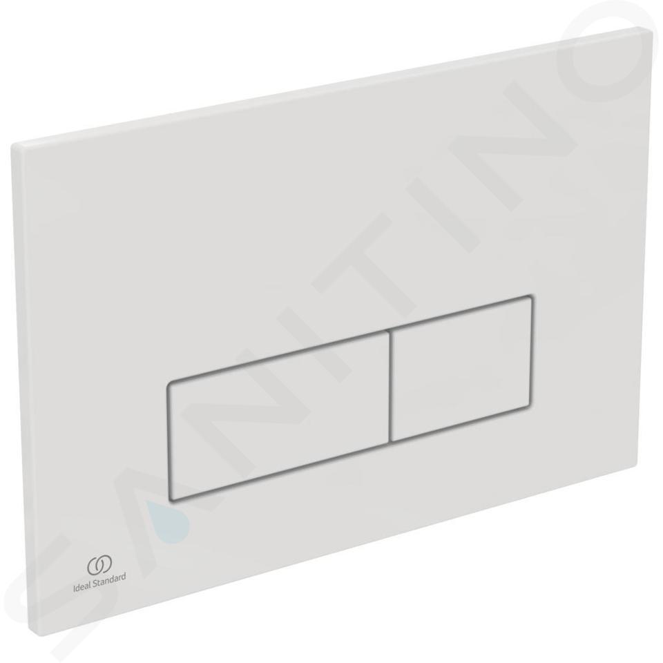 Ideal Standard ProSys - Ensemble pour WC suspendu, cuvette et abattant Dolomite Quarzo, Plaque de déclenchement Oleas M2, blanc ProSys120M SP31