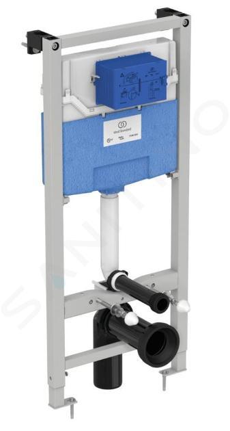 Ideal Standard ProSys - Set - Vorwandelement, Klosett und WC-Sitz Dolomite Quarzo, Betätigungsplatte Oleas M2, chrom ProSys120M SP33