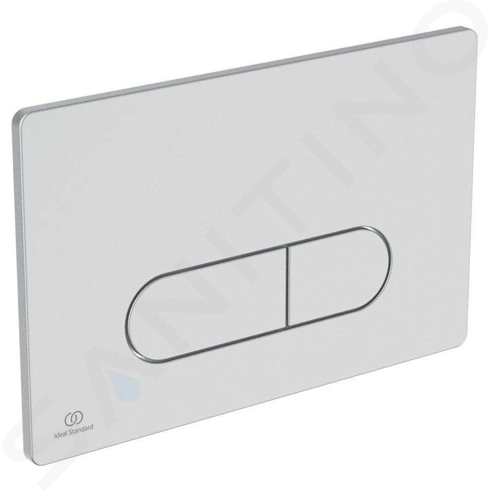 Ideal Standard ProSys - Toiletset- inbouwreservoir, closet, WC-zitting Dolomite Quarzo, Oleas M1 bedieningsplaat, mat chroom ProSys120M SP35