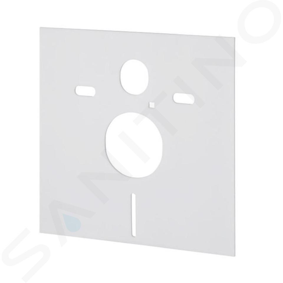 Ideal Standard ProSys - Ensemble pour WC suspendu, cuvette et abattant Dolomite Quarzo, Plaque de déclenchement Oleas M1, chrome ProSys120M SP36