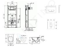 Ideal Standard ProSys - Toiletset- inbouwreservoir, closet, WC-zitting Architectura, Oleas M1 bedieningsplaat, DirectFlush, SoftClose, CeramicPlus, chroom ProSys120M SP48
