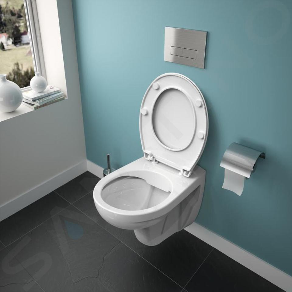 Ideal Standard ProSys - Toiletset- inbouwreservoir, closet, WC-zitting Eurovit, Oleas M2 bedieningsplaat, Rimless, SoftClose, mat chroom ProSys120M SP50