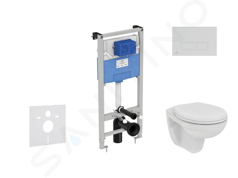 Ideal Standard ProSys - Toiletset- inbouwreservoir, closet, WC-zitting Eurovit, Oleas M2 bedieningsplaat, Rimless, SoftClose, chroom ProSys120M SP51