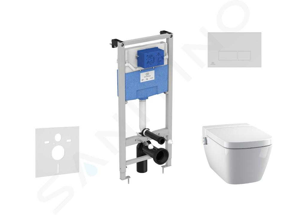 Ideal Standard ProSys - Set - Vorwandelement, Dusch-WC und WC-Sitz TECEone, Betätigungsplatte Oleas M2, Rimless, SoftClose, chrom matt ProSys120M SP56