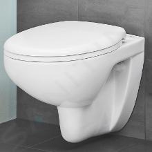 Ideal Standard ProSys - Set con modulo di installazione, vaso e copriwater Bau Ceramic, placca di comando Oleas M1, Rimless, SoftClose, bianco ProSys120M SP64