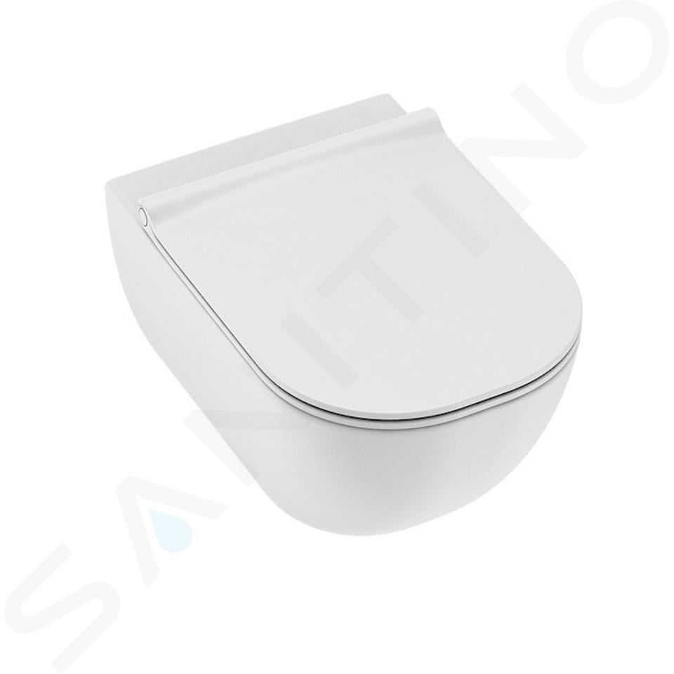 Ideal Standard ProSys - Set - Vorwandelement, Klosett und WC-Sitz Mio, Betätigungsplatte Oleas M1, Rimless, SoftClose, Antibak, weiß ProSys120M SP70