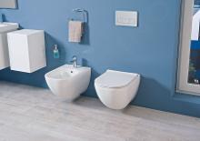 Ideal Standard ProSys - Toiletset- inbouwreservoir, closet, WC-zitting Mio, Oleas M1 bedieningsplaat, Rimless, SlowClose, Antibak, wit ProSys120M SP70