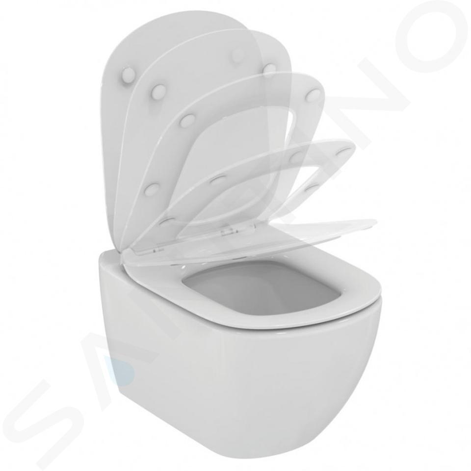 Ideal Standard ProSys - Set - Vorwandelement, Klosett und WC-Sitz Tesi, Betätigungsplatte Oleas M2, Aquablade, SoftClose, weiß ProSys80M SP73