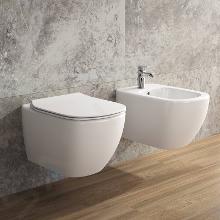 Ideal Standard ProSys - Toiletset- inbouwreservoir, closet, WC-zitting Tesi, Oleas M1 bedieningsplaat, Rimless, Softclose, wit ProSys80M SP82