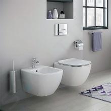 Ideal Standard ProSys - Set - Vorwandelement, Klosett und WC-Sitz Tesi, Betätigungsplatte Oleas M1, weiß ProSys80M SP88