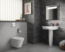 Ideal Standard ProSys - Set - Vorwandelement, Klosett und WC-Sitz Connect Air, Betätigungsplatte Oleas M1, Aquablade, SoftClose, chrom ProSys80M SP96