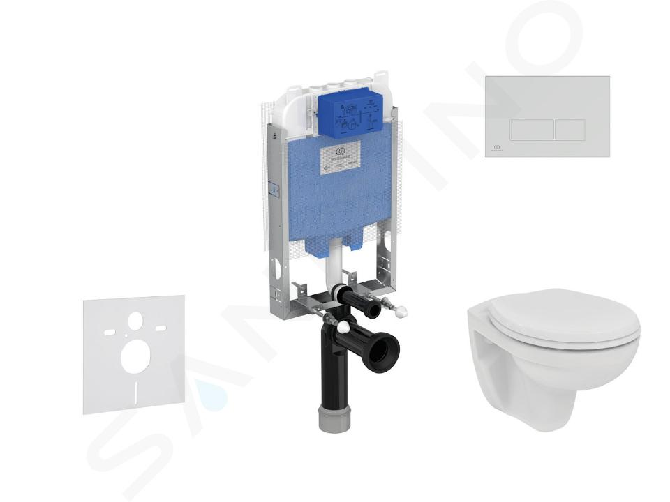 Ideal Standard ProSys - Toiletset- inbouwreservoir, closet, WC-zitting Eurovit, Oleas M2 bedieningsplaat, Rimless, Softclose, chroom ProSys80M SP123