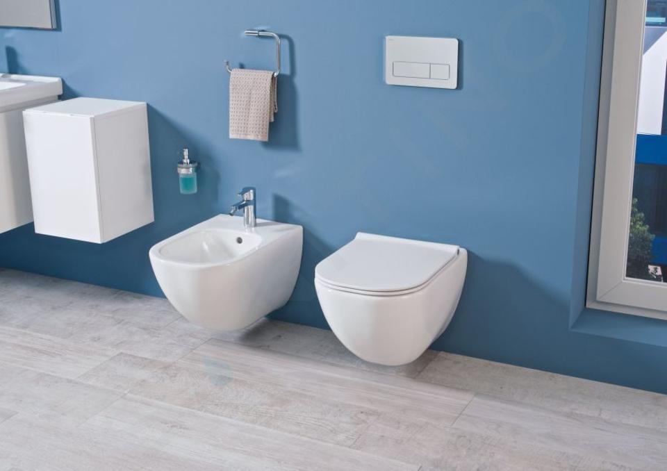 Ideal Standard ProSys - Toiletset- inbouwreservoir, closet, WC-zitting Mio, Oleas M1 bedieningsplaat, Rimless, Slowclose, Antibak, mat chroom ProSys80M SP143