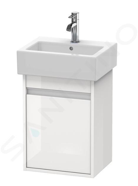 Duravit Ketho - Wastafel onderkast 550x400x320 mm, links, glanzend wit KT6630L2222
