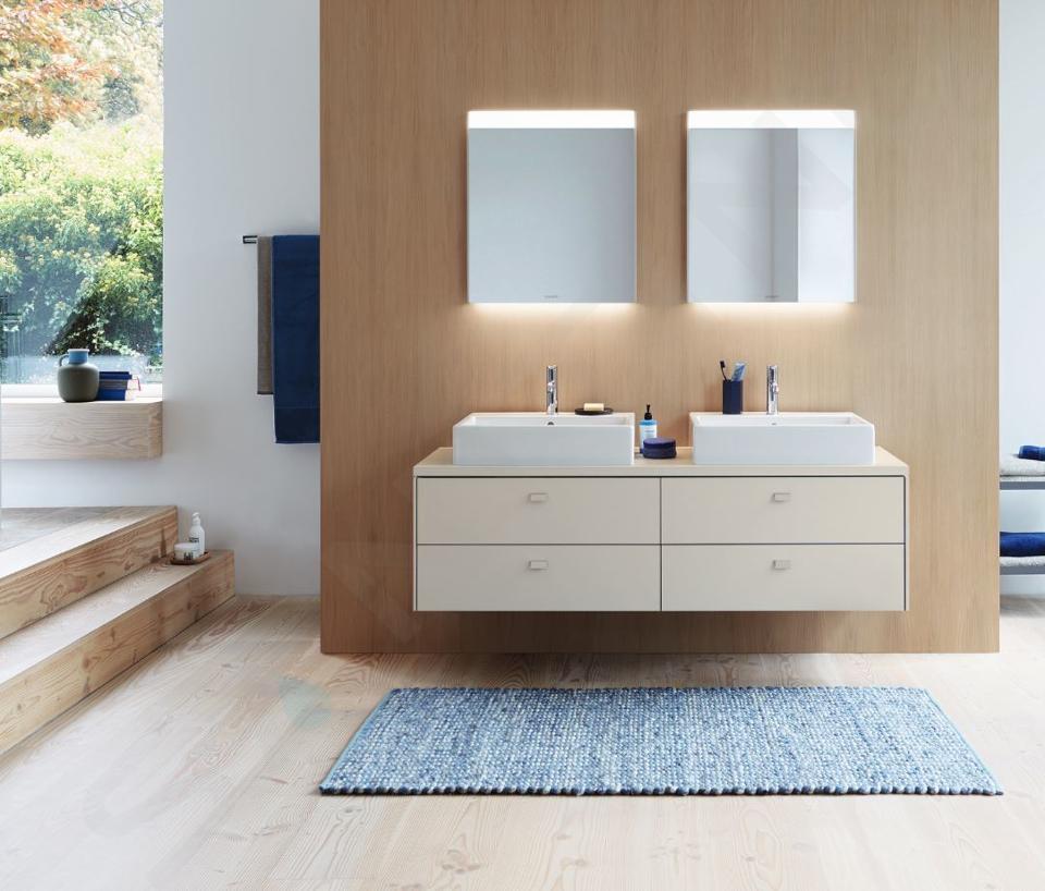 Duravit Brioso - Miroir avec éclairage LED 700x620x45 mm, blanc brillant BR700102222