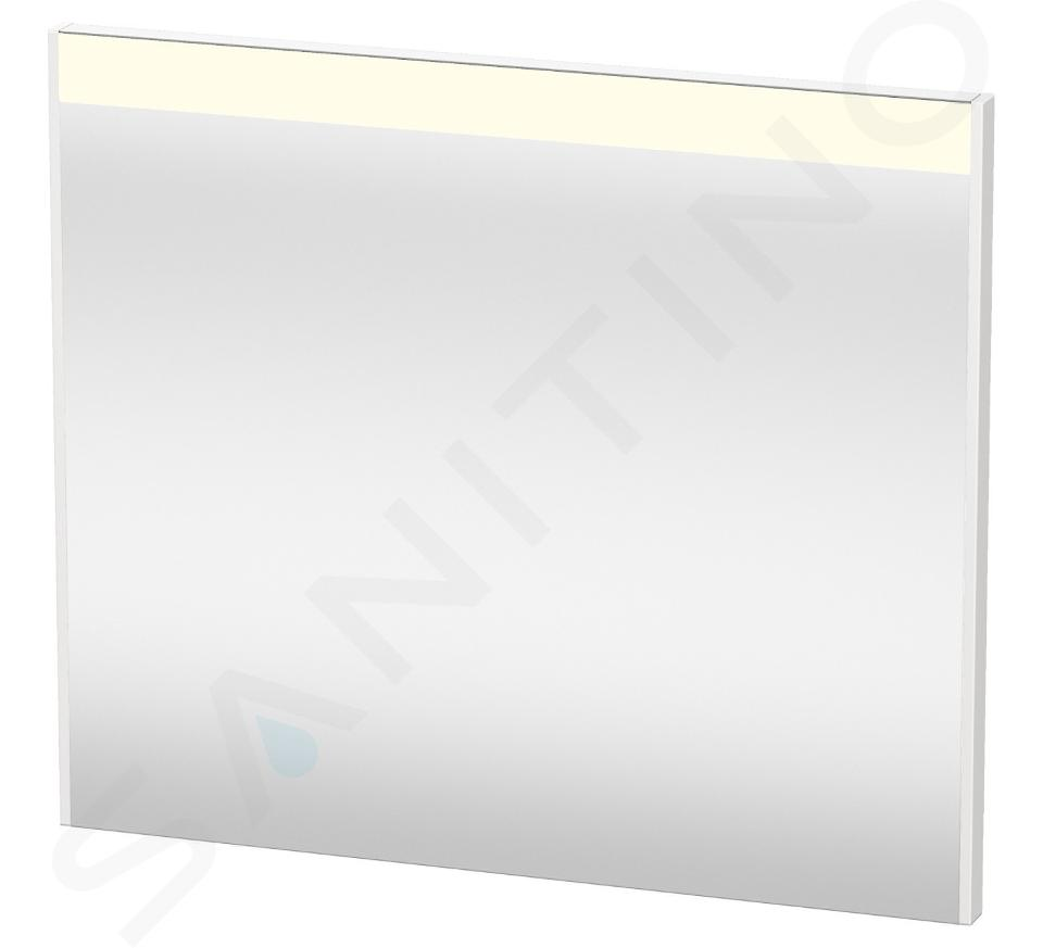Duravit Brioso - Miroir avec éclairage LED 700x820x45 mm, blanc brillant BR700202222