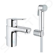 Grohe Edge - Mitigeur de lavabo avec douchette de bidet, chrome 23757000