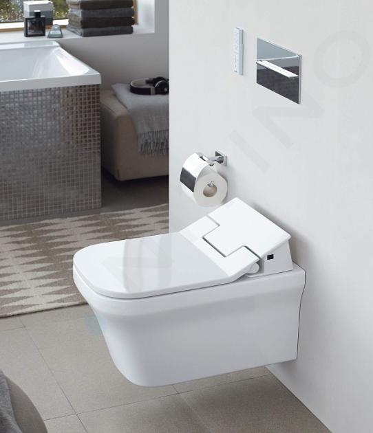 Duravit SensoWash Slim - Elektronické bidetové sedátko SensoWash Slim, SoftClose, alpská bílá 611200002304300